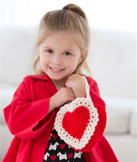 crochet bag pattern red heart we love free valentine s day heart inspired patterns to