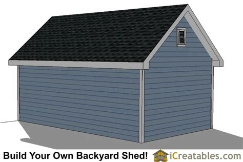 12x20 Shed Plans With Dormer   iCreatables.com