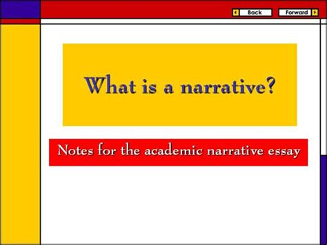 Writing A Narrative Essay Powerpoint by Writing Narrative Essays Ppt Stonewall Services