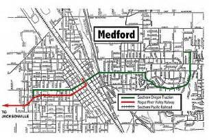 map of jacksonville oregon medford jacksonville streetcar system