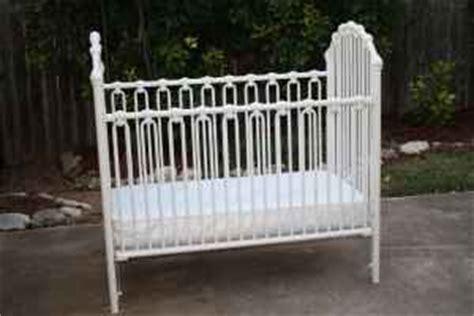 White Metal Baby Crib by Metal Crib Parts