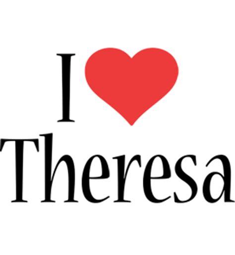 theresa logo  logo generator  love love heart