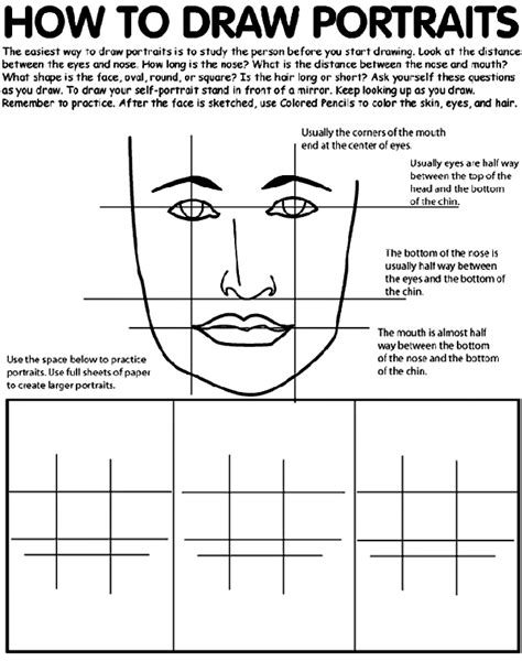 how to start a doodle page how to draw portraits coloring page crayola