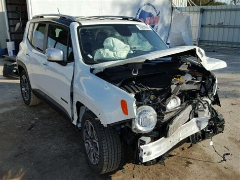crashed white jeep 2017 jeep renegade l photos salvage car auction copart usa