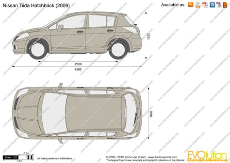 nissan tiida hatchback 2005 the blueprints com vector drawing nissan tiida hatchback