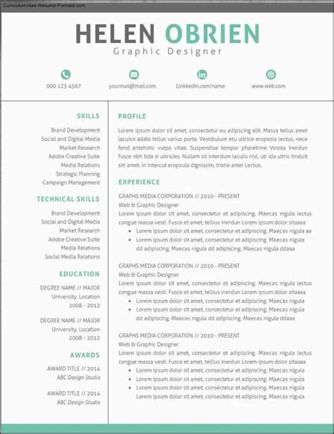 contemporary resume templates free modern professional resume templates free sles