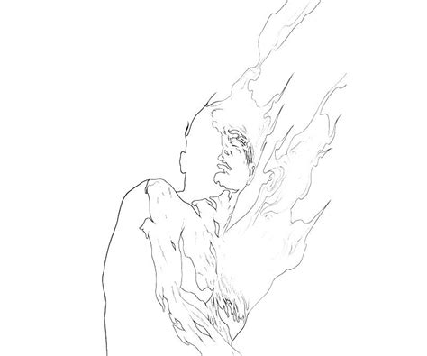 free coloring pages of human torch