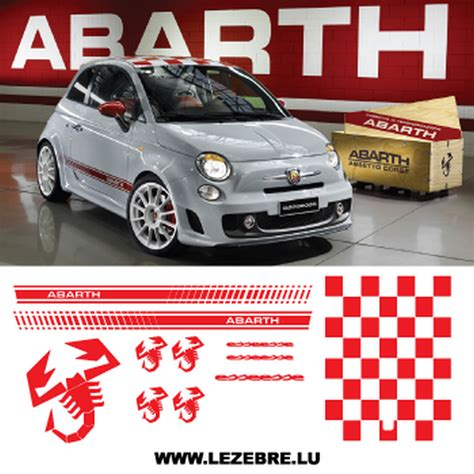 Abarth Aufkleber by Fiat 500 Abarth Esseesse Stickers Kit