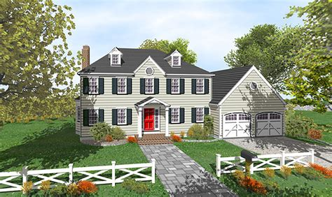 colonial floor plans two story two story colonial with open floor plan 9551dm