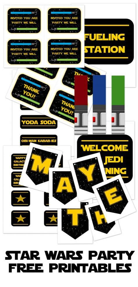 printable decorations star wars the best star wars party ideas happiness is homemade