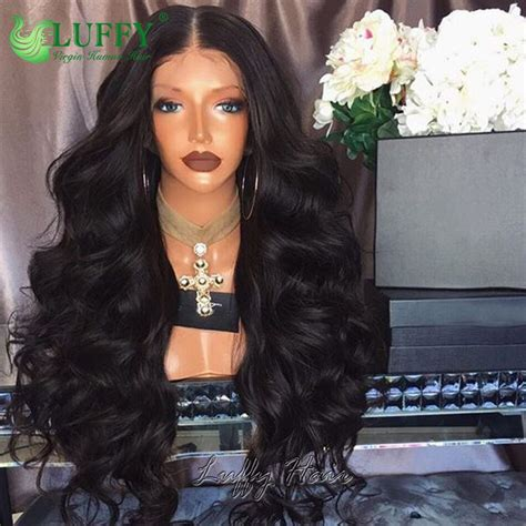 peruvian full lace wig human hair deep body wave