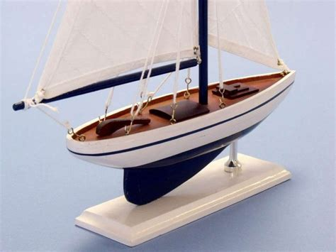 Sailboat Models For Decoration by Buy Wooden Blue Pacific Sailer Model Sailboat Decoration