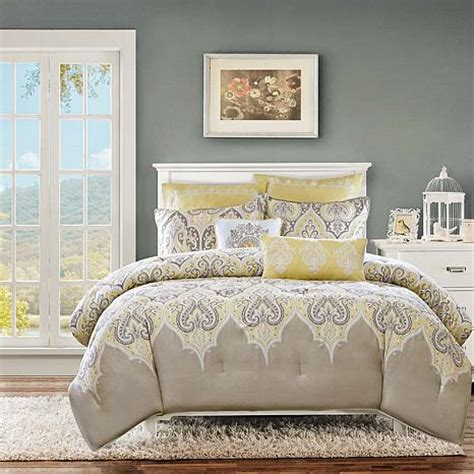 madison park nisha yellow comforter set king california