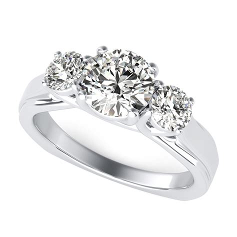 three trellis engagement ring with square shank