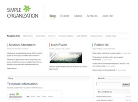 Simple Organization Free Website Template Free Css Templates Free Css Simple Css Templates