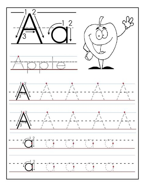 Printable Tracing Letters For Preschoolers | trace letter a sheets to print activity shelter