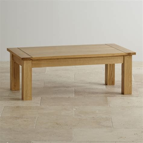 Contemporary Coffee Table In Solid Oak Oak Furniture Land