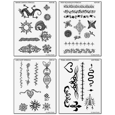 temporary tattoo stencils los angeles artist series designs henna and jagua