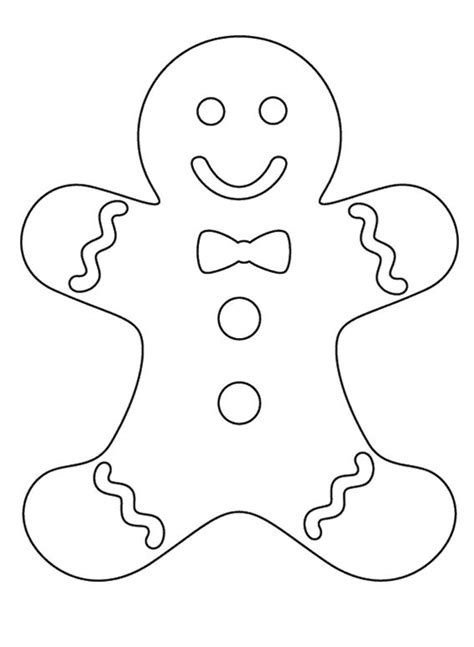 coloring page gingerbread boy gingerbread pa coloring pages