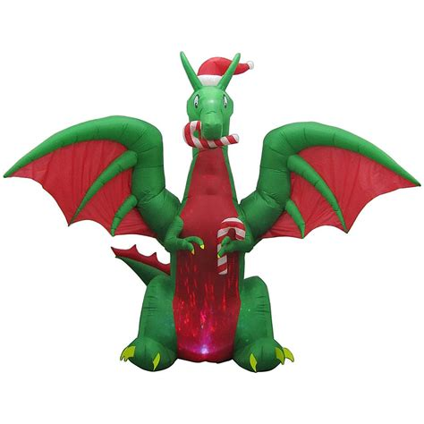 Dragon Decorations Home Accents Holiday 11 Ft Animated Inflatable