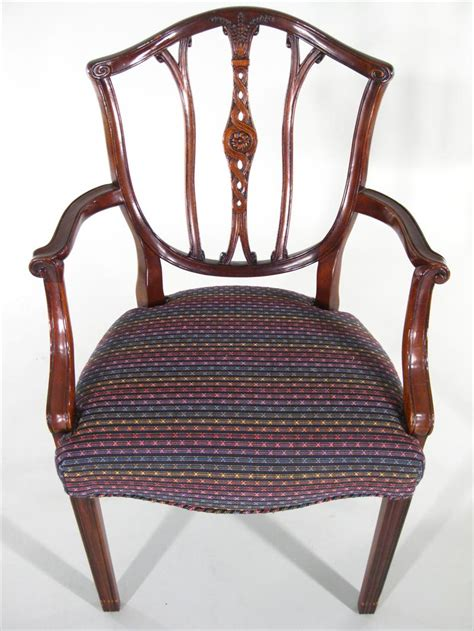 hepplewhite shield back chairs igavel auctions 6 hepplewhite style mahogany shield back