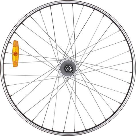 btwin voorwiel hybride fiets  enkelwandig met shimano dynamo decathlonnl