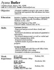 Regular Resume Examples Regular Resume By Blackcat514 On Deviantart