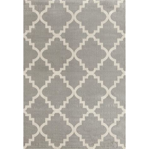 5 X 9 Area Rug World Rug Gallery Contemporary Modern Trellis Gray 7 Ft 6 In X 9 Ft 5 In Area Rug 9102 Gray