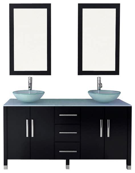 Modern Bathroom Glass Vanities 59 Quot Sirius Vessel Sink Modern Bathroom Vanity With