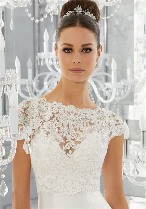 Wedding Dresses Accessories by Pearl And Diamant 233 Beaded Alen 231 On Lace Jacket Style