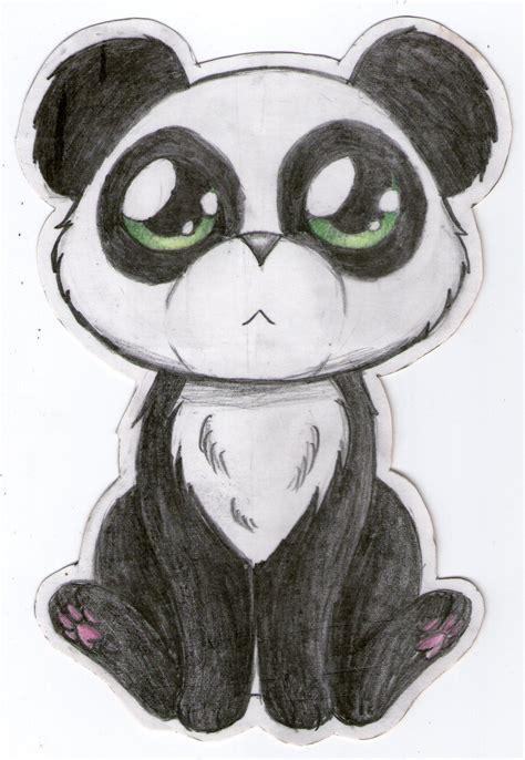 cute panda  green eyes  panda drawing cute