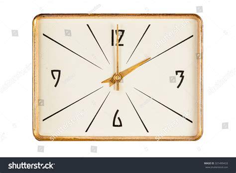 printable rectangular clock face vintage rectangle clock face golden yellow stock photo