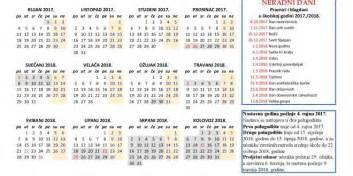 Kalendar 2018 Godine Osnovna škola Cetingrad Oglasna Ploča Kalendar školske