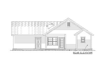 narrow lot cottage house plan 9818sw architectural 3 bed narrow lot cottage with garage 52251wm