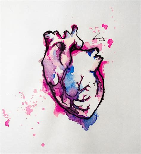 watercolor tattoo heart watercolor tattoos watercolor