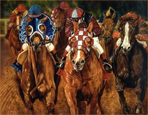 painting racing equine portrait painting in equine racing