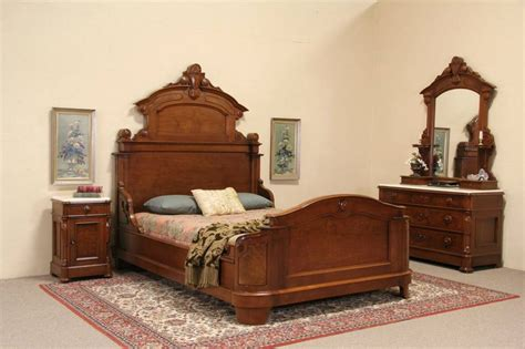 marble bedroom furniture sets sold victorian 1870 antique 3 piece queen size bedroom
