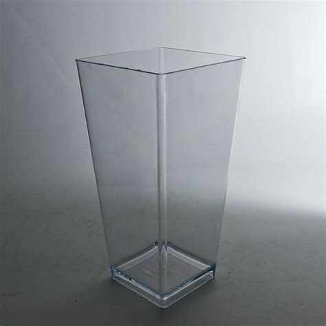 Plastic Clear Vase by 9 Quot Plastic Tapered Vase Clear Wholesale Flowers And