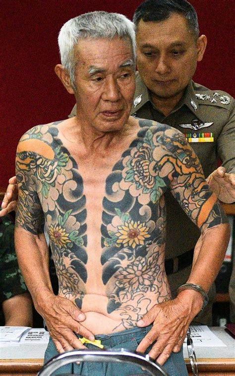 missing japanese mafia boss arrested  tattoos