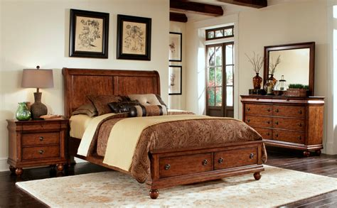 Rustic Bedroom Set With Storage Rustic Traditions Sleigh Storage Bedroom Set From Liberty
