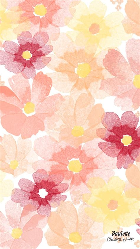 abstract flower pattern iphone wallpaper watercolor flowers iphone wallpaper panpins iphone