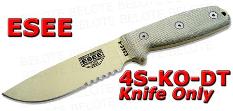 esee 4 weight esee model 4 serrated blade knife only 4s ko dt new ebay