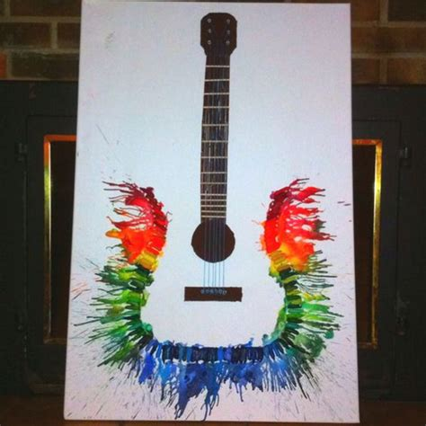 artwork ideas and budget friendly melted crayon ideas