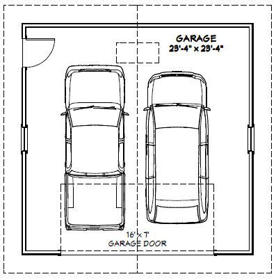 dimensions of a 2 car garage 3 car garage single door 3
