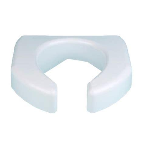 maddak basic open front elevated toilet seat raised