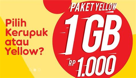 cara errorin paket 1ribu 1 gb indosat cara daftar paket internet murah yellow im3 kuota 1gb