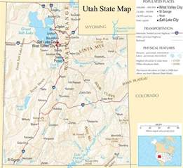 A Map Of Utah by Detailed Map Of Utah Images