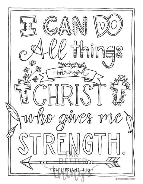 Coloring Page For Philippians 4 13 by Philippians 4 13 Coloring Pages Collection