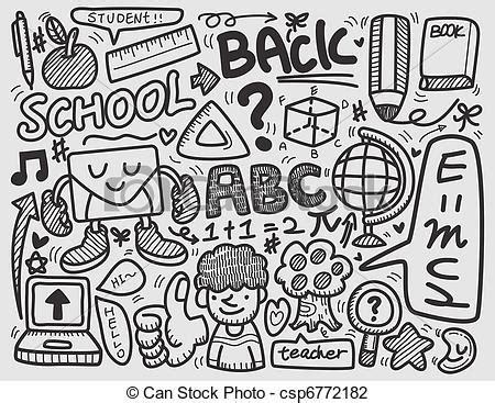 doodlebug academy vektor illustration gekritzel schule csp6772182