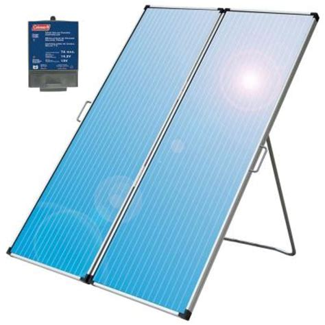 coleman 36 watt folding solar panel 58232 the home depot